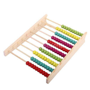 Wooden Children Toy Bead Abacus Counting Number Frame Educational Maths UK STOCK