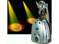 pair of irock 6S professional scanner lights with stands, suited for pro DJ, club etc..