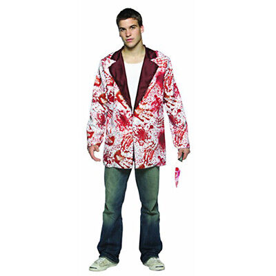 Bloody Blazer Jacket Mens Gory Killer Murder Adult Halloween Costume Accessory - Bloody Gory Halloween Costumes