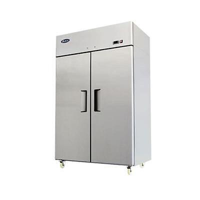 Atosa Mbf8002gr Top Mount Two Door Freezer Stainless Steel Wcasters