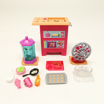 Barbie Dream House Furniture Vanity Sink Fan Fish Tank BBQ Lights and Sounds