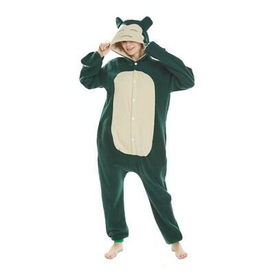 Pokemon Kigurumi Anime Snorlax Cosplay Pajamas Jumpsuit Adult Sleepwear (Snorlax Cosplay Kostüm)
