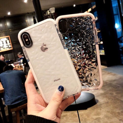 For iPhone XS MAX XS XR X Crystal Bling Glitter Rubber TPU Clear Soft Case Cover