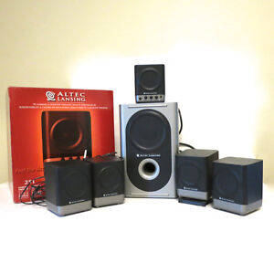 Altec Lansing 251 Surround Sound Computer 6 Speakers Subwoofer