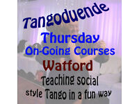 Argentine Tango 6 week social style course from Jan 11th