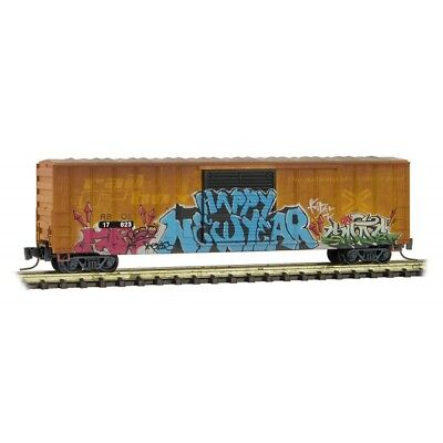Z Scale - MICRO-TRAINS Line 510 44 010 Weathered RAILBOX 50' Box Car w/Graffiti, used for sale  Chillicothe