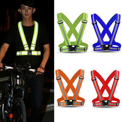 High Visibility Reflective Adjustable Safety Security Vest Gear Stripes Jacket