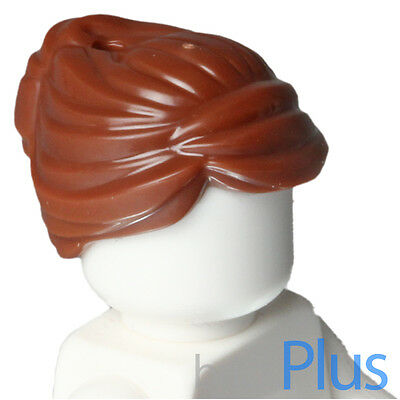 LEGO Dark Brown Minifig Hair Mid-Lenght Tousled Center Part Boy Girl Male Female