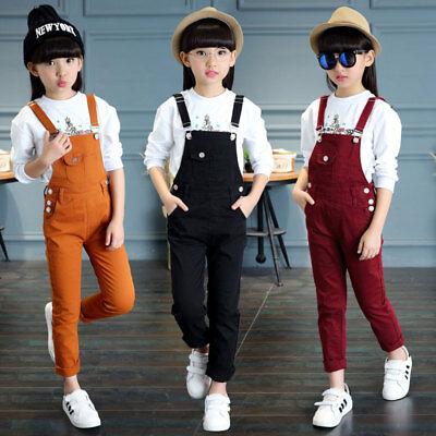 kids girl Denim Jeans Romper Jumpsuit Casual Overalls Pants
