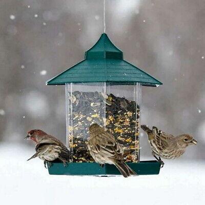 US Waterproof Gazebo Hanging Wild Bird Feeder Villa Outdoor Feeding Garden Decor