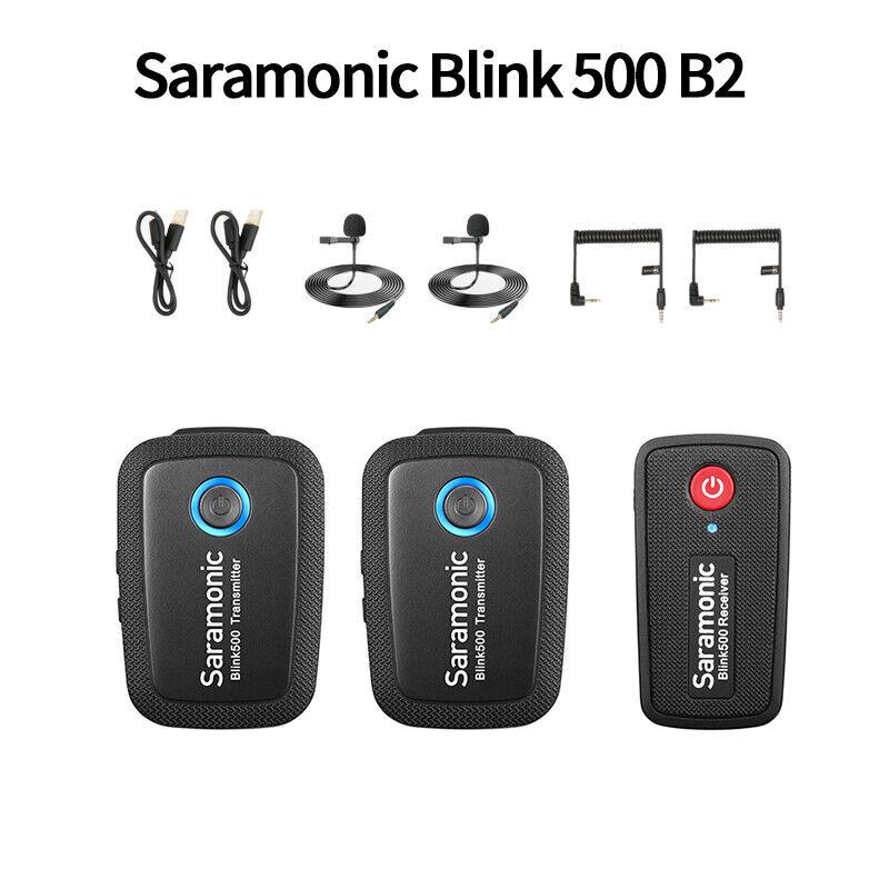 Saramonic Blink500 B1/2/3/4/5/6 Wireless Lavalier Lapel Microphone Condenser Mic