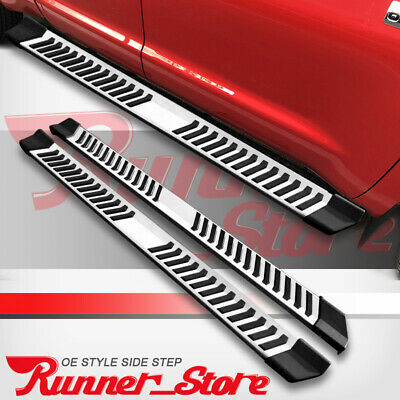 "Fit 01-16 Silverado/Sierra Crew Cab 6"" Running Board Side Step Nerf Bar S/S V"