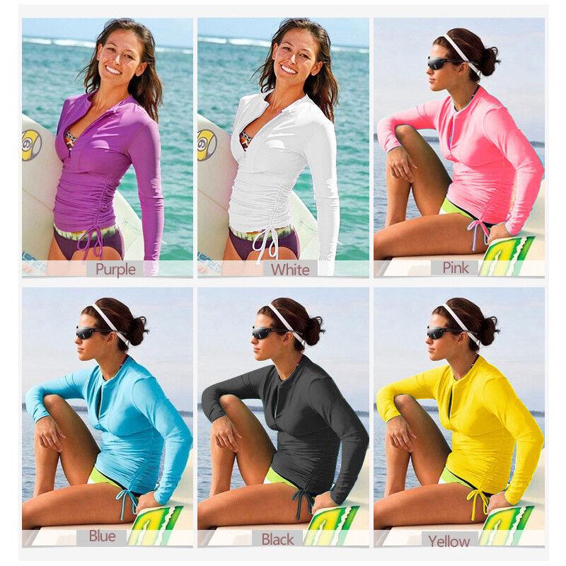 SBART New Women's Long Sleeve UV Sun Protection Rash Guard W