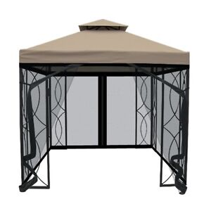 Garden Treasures 8x8ft Gazebo With Bug Netting! Great Condition!