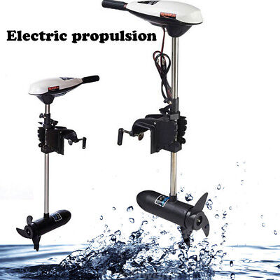 65LBS Thrust Transom Mount Outboard Electric Trolling Motor for Kayak Canoe 12v