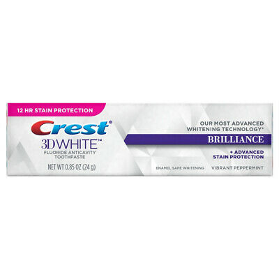 Crest 3D White Fluoride Anticavity Toothpaste 085 oz Pack of 2