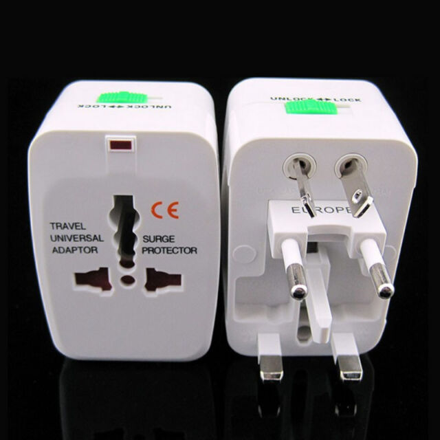 Worldwide AC Universal Travel Power Plug Charger Adapter Converter AU/UK/US/EU