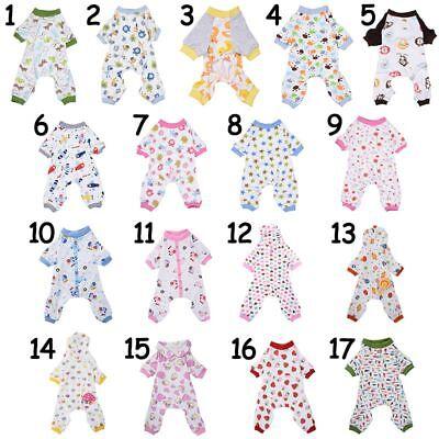 US Pet Dog Pajamas Puppy Coat Jumpsuit Apparel Cotton Romper Sleepwear Clothes