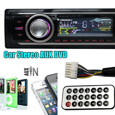 Car Audio Stereo In Dash FM Aux Input Receiver with SD USB MP3 Radio Player