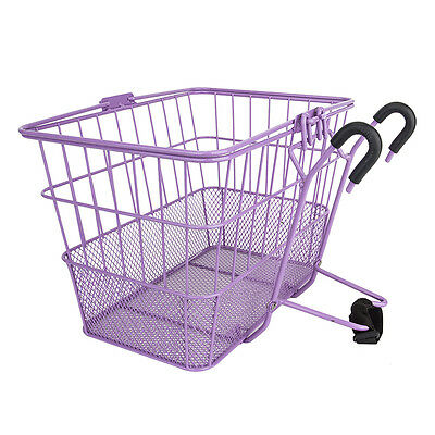 Sunlite Wire Steel Mesh Front Bicycle Basket Purple Removable Carrier Colorful -