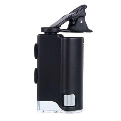 100x Magnifying Glass Universal Mobile Phones Mini Clip Led Microscope Portable