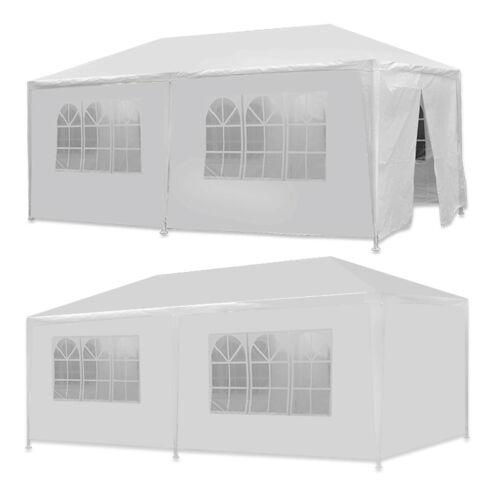 10 X 20 White Wedding Party Tent Gazebo Canopy with 6 Remova