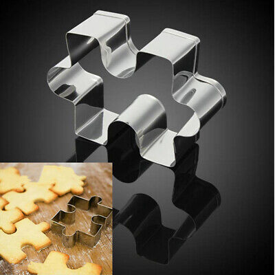 Stainless Steel Jigsaw Pieces Cookie Cutter 4Pcs/Set Baking Puzzle Shaped Mould Shaped Cookie Cutter Set