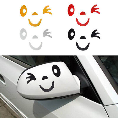 New Arrival Smile Face Design 3D Decoration Sticker For Car's Mirror Rearview