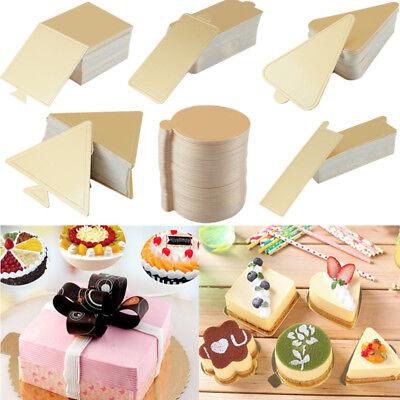50/100x Disposable Cake Cardboard Mousse Cake Paper Tray Base Cake Baking - Cardboard Trays