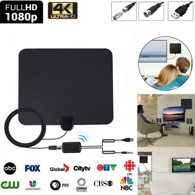 100 Miles Digtial Verstärker TV Antenne Amplified DVB-T/ DVB-T2 HDTV Fernseher