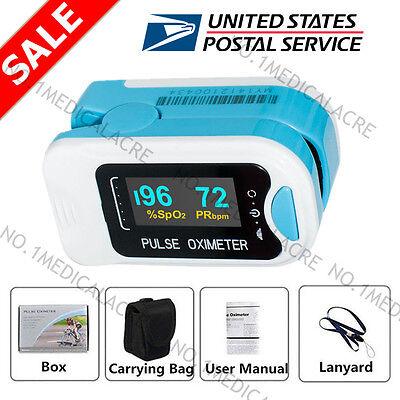 Us Spo2 Pulse Oximeter Oled Fingertip Blood Oxygen Saturation Heart Rate Monitor