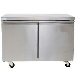 Prep Table , 2 Door Under Counter Freezer