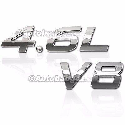 1 - BRAND NEW 3D Adhesive Chrome Badge Emblem Rear Side Fender 4.6L V8 BADGE