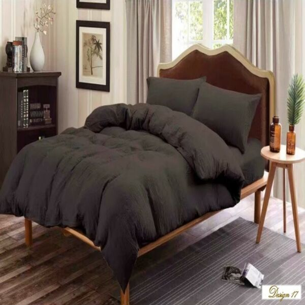 QUEEN Deep DARK BROWN Fitted BedSheet + 2 Pillowcases Set. Several OTHER COLORS AVAILABLE QUEEN Size