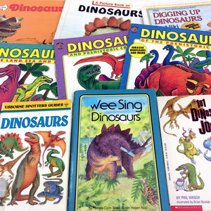 9 Vintage Dinosaurs Picture Books Childrens 80s 90s Jurassic Set