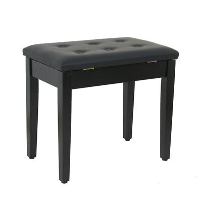 Padded Wooden Piano Bench Stool W/ Music Storage For Piano Keyboard Vanity Table