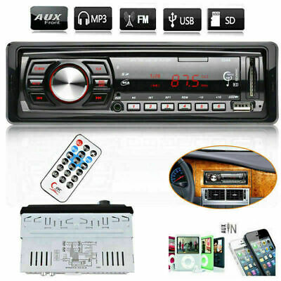 AUTORADIO KFZ MP3 PLAYER BLUETOOTH FREISPRECH-EINRICHTUNG 1 DIN FM USB AUX IN
