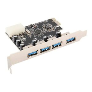 4 Port 5Gbps Superspeed USB 3.0 HUB PCI-E Card Adapter