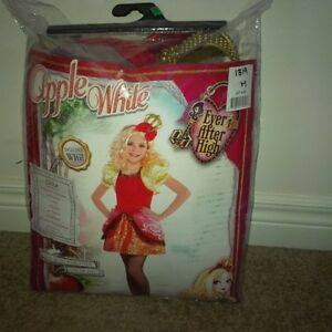 Deluxe Apple white child costume size medium
