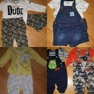 90 pieces of newborn and 0-3 month clothing