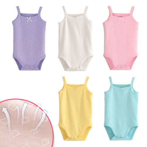 Baby Girls Sleeveless Tank Top Cotton Baby Bodysuit Pack of Summer Baby Clothes
