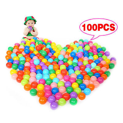 100Pcs Multi-Color Cute Kids Soft Play Balls Toy For Ball Pit Swim Pit Pool FUN