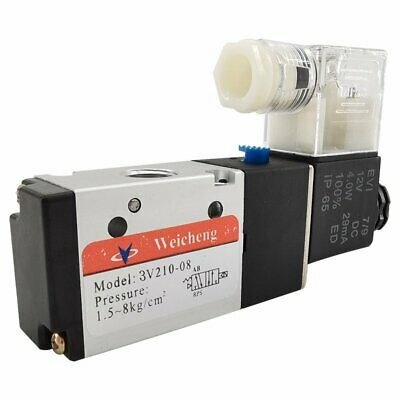 14in Pneumatic Electric Solenoid Valve 3 Way 2 Position Closed Dc 12v Air Npt