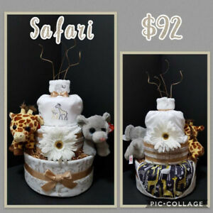 Safari themed diaper cake
