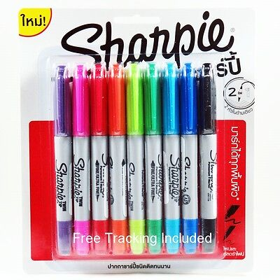 Sharpie Twin Tip Assorted Marker Permanent Pack 9 Fine Ultra-fine