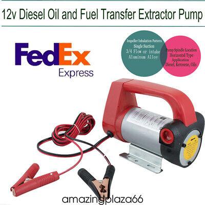 Portable Diesel Biodiesel Kerosene Pump Oil Fuel Transfer Extractor Pump 155w12v