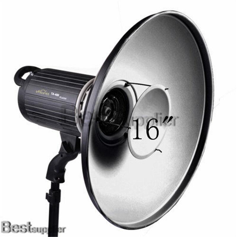 "NEW Photo 16"" Beauty Dish Reflector for Studio BOWENs Monolight Strobe Flash"