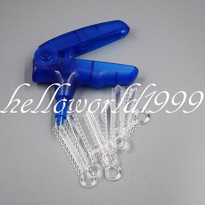 Ligature Shooter Dispenser Gun 1040 Pcs Clear Orthodontic Ligature Ties Dental