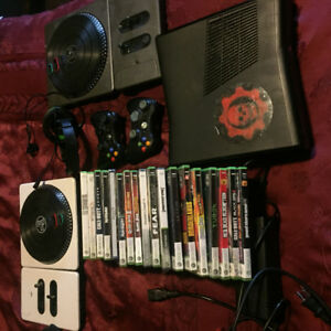 Xbox 360, controllers, games, mic
