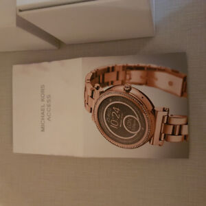 Rose gold and Swarovski crystal Michael Kors smart watch